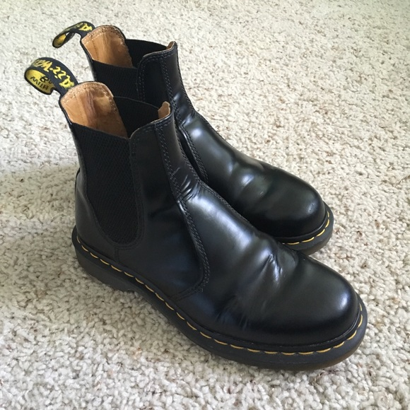 Dr. Martens 2976 Yellow Stitch Chelsea Boots